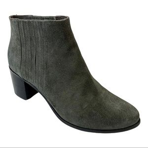 Coclico Gray Suede Zag Ankle Booties 8